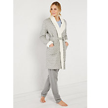 Buy White Stuff Winter Nights Heart Print Robe, Grey Online at johnlewis.com