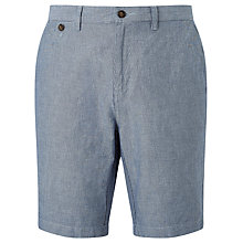 Buy John Lewis Stripe Cotton Linen Chino Shorts, Navy Online at johnlewis.com