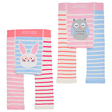 Buy Baby Joule Lively Bunny and Owl Tights, Pack of 2, Multi Online at johnlewis.com