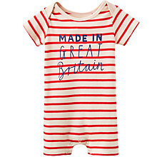 Buy Baby Joule Liz Mi Britain Striped Romper, Red Online at johnlewis.com
