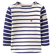 Buy Baby Joule Striped Harbour, Navy/White Online at johnlewis.com