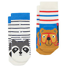 Buy Baby Joule Neat Feet Sea Fun Bear and Raccoon Bamboo Socks, Pack of 2, Multi Online at johnlewis.com