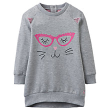 Buy Baby Joule Katina Sweatshirt Dress, Grey Online at johnlewis.com