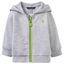 Buy Baby Joule Dinosaur Novelty Full Zip Hoodie, Grey Online at johnlewis.com