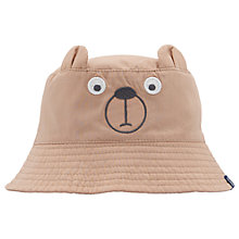 Buy Baby Joule Tod Bear Sun Hat, Brown Online at johnlewis.com