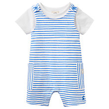 Buy Baby Joule Duncan Striped Jersey Dungaree Set, Blue/White Online at johnlewis.com