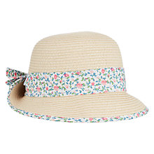 Buy John Lewis Baby Straw Cloche Hat, Brown Online at johnlewis.com