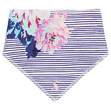 Buy Baby Joule Striped Chalk Posy Bib, Blue/Pink Online at johnlewis.com