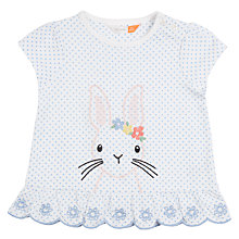 Buy John Lewis Baby Bunny Broderie T-Shirt, White Online at johnlewis.com