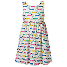 Buy Frugi Organic Girls' Porthcurno Sausage Dog Print Party Dress, Green/Multi Online at johnlewis.com