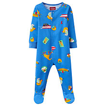 Buy Baby Joule Ziggy Sea Print Sleepsuit, Blue/Multi Online at johnlewis.com