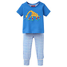 Buy Baby Joule Doodle Trousers and Top Set, Blue/Multi Online at johnlewis.com