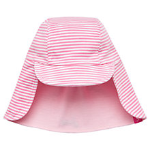 Buy Baby Joule Reversible Striped Legionnaires Hat, Pink Online at johnlewis.com