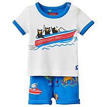 Buy Baby Joule Barnacle Printed T-Shirt and Shorts Set, Blue/White Online at johnlewis.com