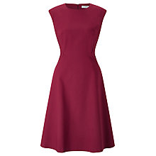 Buy John Lewis Savannah Fit And Flare Dress, Raspberry Online at johnlewis.com