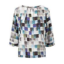 Buy Kin by John Lewis Painted Square Print Top Online at johnlewis.com