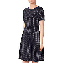 Buy John Lewis Spot Fit And Flare Dress, Navy Online at johnlewis.com