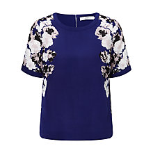Buy John Lewis Silk Cross Floral Top, Multi Online at johnlewis.com