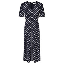Buy John Lewis Ava Chevron Dress, Navy Online at johnlewis.com