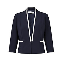Buy John Lewis Sienna Tipped Ponte Jacket, Navy Online at johnlewis.com