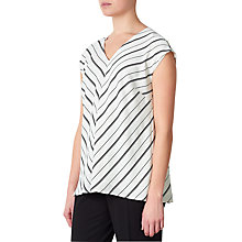 Buy John Lewis Leila Chevron Woven Top, Cream Online at johnlewis.com