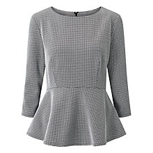 Buy John Lewis Stephanie Textured Peplum Top, Multi Online at johnlewis.com