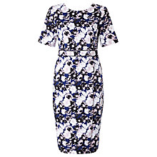 Buy John Lewis Floral Print Ponte Dress, Multi Online at johnlewis.com