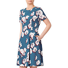 Buy John Lewis Fit And Flare Dress, Navy Online at johnlewis.com