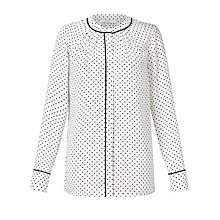 Buy John Lewis Lucy Spot Print Top, Cream Online at johnlewis.com