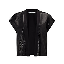 Buy John Lewis Sequin Knitted Jacket, Black Online at johnlewis.com
