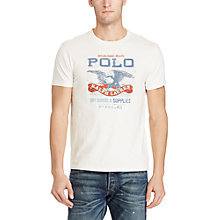 Buy Polo Ralph Lauren Graphic Print Cotton T-Shirt, Nevis Online at johnlewis.com