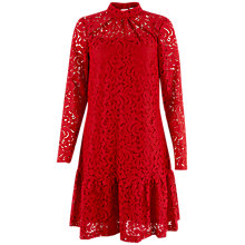 Buy Closet Lace Long Sleeve Dress, Red Online at johnlewis.com