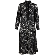 Buy Closet Long Lace Shirt Dress, Black Online at johnlewis.com