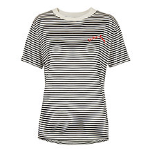 Buy Whistles Tres Bon T-Shirt, Black/Multi Online at johnlewis.com