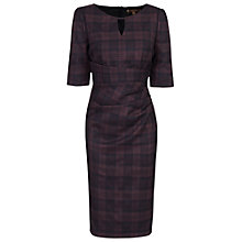 Buy Jolie Moi Check Woven Shift Dress, Black Online at johnlewis.com
