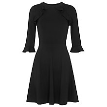 Buy Whistles Fluted Jersey A-Line Dress, Black Online at johnlewis.com
