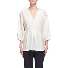 Buy Whistles Eliza Trim Blouse, Ivory Online at johnlewis.com