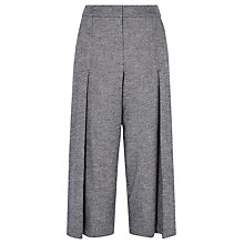 Buy Karen Millen Tweed Cropped Wide Leg Trousers, Grey Online at johnlewis.com