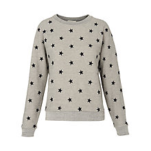 Buy Whistles Star Embroidered Sweatshirt, Grey Online at johnlewis.com