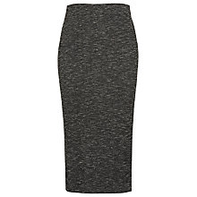 Buy Whistles Ribbed Jersey Tube Midi Skirt, Grey Marl Online at johnlewis.com