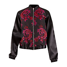 Buy Closet Printed Bomber Jacket, Black Online at johnlewis.com