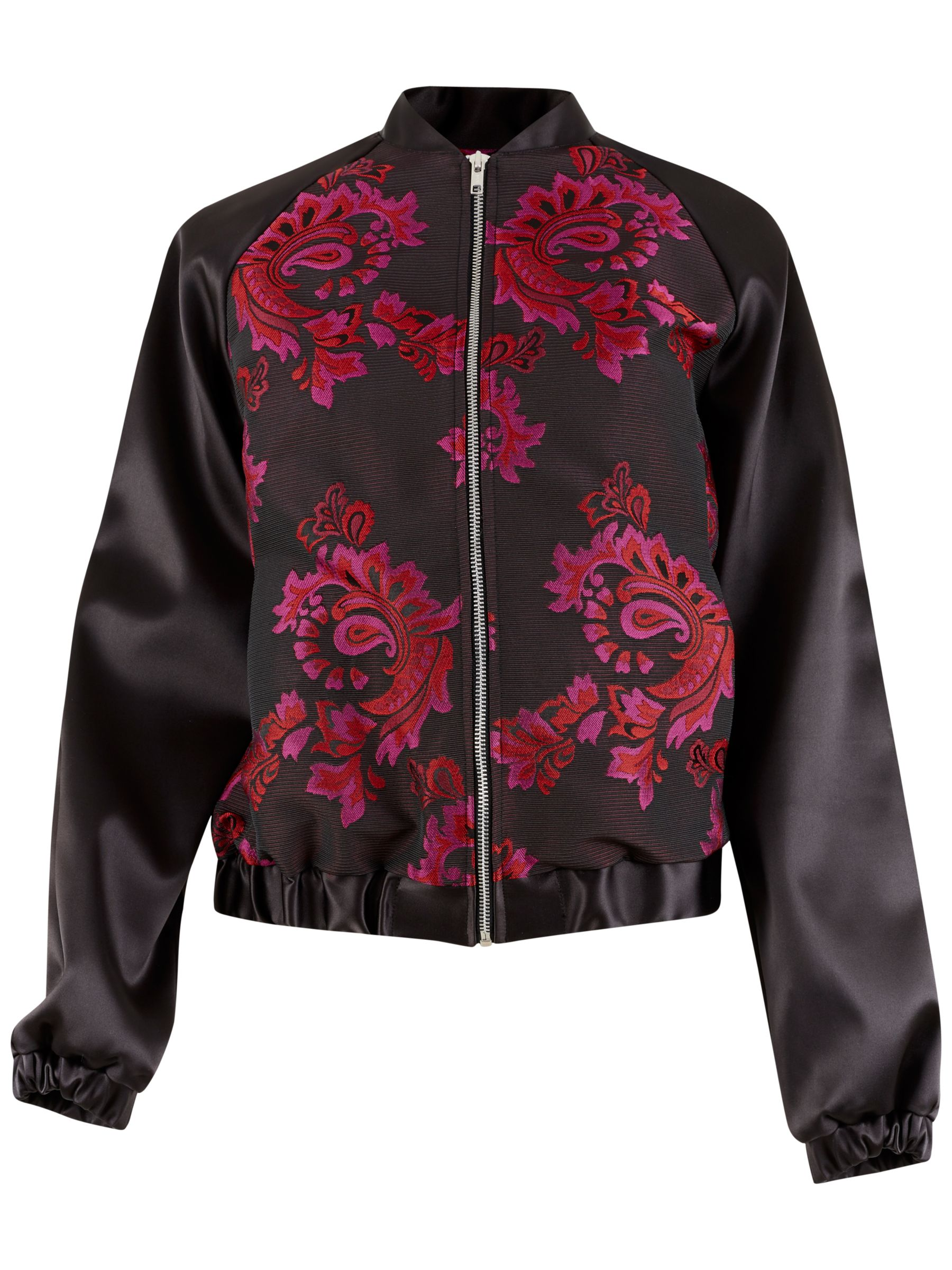 Closet Closet Printed Bomber Jacket, Black