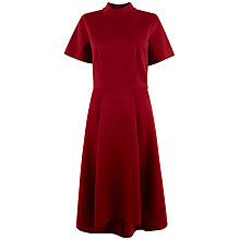 Buy Closet High Collar Jersey Dress, Red Online at johnlewis.com