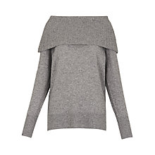 Buy Whistles Wide Off The Shoulder Jumper, Grey Marl Online at johnlewis.com