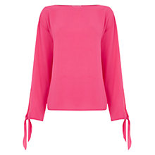Buy Warehouse Tie Sleeve Top Online at johnlewis.com