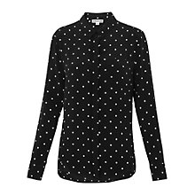 Buy Whistles Emelia Spot Shirt, Black/White Online at johnlewis.com
