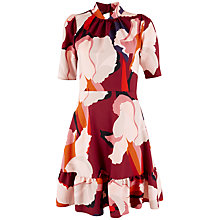 Buy Closet Large Print Peplum Dress, Multi Online at johnlewis.com