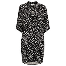 Buy Whistles Giraffe Print Lola Dress, Black / White Online at johnlewis.com