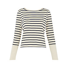 Buy Whistles Stripe Long Sleeve T-Shirt, Blue/Multi Online at johnlewis.com