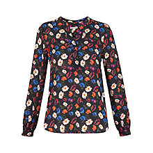 Buy Whistles Pansy Print Blouse, Multi Online at johnlewis.com
